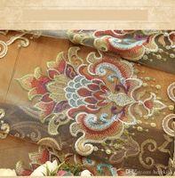 pode ser personalizado para todas as janelas coreano pastoral cortina de vento chenille Europeia bordado cortina quarto personalizado sala tecido
