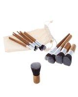 Эксперт бамбука кисти ручки Кабуки кисти для макияжа Фонд Blending Румяна Корректор глаз для лица Liquid Powder крем Косметика