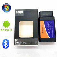Gerçek ELM 327 V 1.5 ELM327 Bluetooth OBD2 v1.5 Android Araba tarayıcı Otomotiv OBD 2 Araç Tanı Aracı OBDII SCANER Automotriz