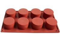 8 Delikler Yuvarlak Silikon Kek Kalıp 3D El yapımı Cupcake Jelly Kurabiye Mini Kek Sabun Makinesi DIY Pişirme Araçları