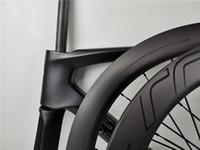 2020 Высококачественные 700C Дорожный дисковый тормозной тормоз Thru Оси Велосипед Углеродная рамка + Колеса 100 * 12 142 * 12 мм 2 года Гарантия Фреймов