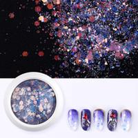 Manucure sirène Glitter Flakes Sparkly 3D Hexagon coloré Paillettes Paillettes polonais Nails art Décorations 8 styles