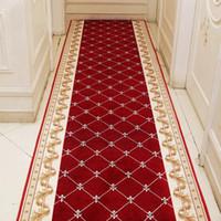 Tapis longs de couloir et tapis pour corridor salon escalier d'escalier de tapis rouge antidérapant Hôtel Accueil Mall Hall Hall Hall Canal Portier