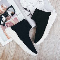 Hot selling luxury stretch socks shoes 2019 new Korean versi...