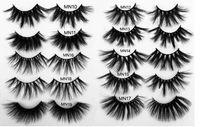 Maquiagem 3D 25mm Real Faux Mink cabelo cílios contra granel Vendedor atacado Luxo Soft Natural Espesso Cílios Falsos 5D Extensão Dramática Eye Lash