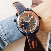 최고 브랜드의 높은 품질의 고급 남성 해양 우주 블루 밴드 자동 이동 디자이너 시계 방수 사파이어 유리 MONTRE의 옴므 시계