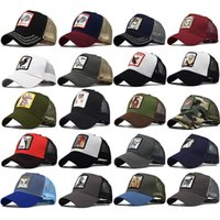 Cappelli animali ricamati per adulti Uomo Donna Estate Trucker Hat Snapbacks Hip Hop Berretto da baseball Cap Designer Sun Visor Cappelli da party HH9-2230