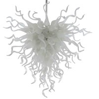 Itália vidro pingente lâmpada fora branco feita sob encomenda pingente lustre moderno mão soprada lustre luzes de cristal luzes arte teto fan-l