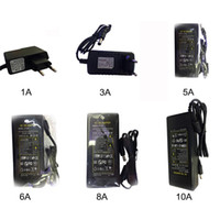 1A 2A 3A 5A 6A 8A 10A transformateur lumière AC110V-240V adaptateur d'alimentation DC12V utilisation de bande 3528 5050 conduit
