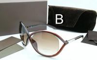alta All'ingrosso-lusso Qualtiy nuovo modo 0394 Tom occhiali da sole per l'uomo Womayewear Ford Designer caso di marca Occhiali da sole con la scatola originale
