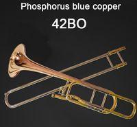 Amerika Birleşik Devletleri Bach BACH 42BO Trombon damla B Ton Değişim Ayarlama Fosfor Bakır Profesyonel Müzik Enstrüman Ücretsiz Kargo