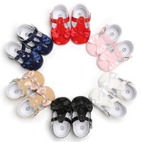 Toddler Girl Shoes Baby Bowknot Soft Sole Shoes Party Princess Antiscivolo Scarpe da ginnastica in pelle di Fille