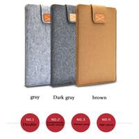 Copertura sacchetto filtro del manicotto 13 15 17 pollici in feltro di lana per notebook interno computer portatile del sacchetto della maniglia per MacBook Air / Pro / Retina