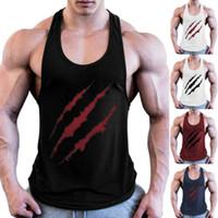 Erkekler Spor Activewear Tanklar En Gömlek Spor Spor Giyim Vücut kas Tee Gömlek Yelek Yaz Pamuk Katı Tees