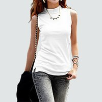 a382dc099cadef Wholesale linen tank tops online - Women Autumn Winter Sleeveless Solid  Color Tops Tees Cotton Tanks