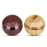 300ML USB LED الذكي التعريفي الخشب الحبوب مرطب مرطب الهواء رائحة الضروري النفط الناشر لموجز وزارة الداخلية هدية
