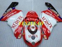射出成形型フェアリングボディキット用ドゥカティ749 999 05 06 DUCATI 749 999 2006 ABS赤ホワイトフェアリングボディワーク+ギフトDD51