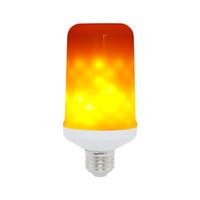 E27 / E14 / E16 LED Dynamic Feu Flamme Effet Ampoule de maïs 3 modes AC 85-265V scintillement Emulation Décor lampe Creative feu lumières Lamparas
