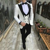 Abiti Iovry per Mens Wedding recente picco Designs smoking dello sposo 3Piece (coat + pants) Best Man Blazer Costume Homme uomo Outfits Terno Masculino