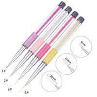 5/9/11/20 mm Perle acrylique Nail Art Liner Pinceau French Lines Stripes Peinture Dessin Grille Fleur Pen DIY manucure outil