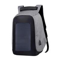Outdoor tassen anti-diefstal laptop rugzak met zonnepaneel oplader groot-capaciteit Bedrijfskantoor reizen voor mannen en vrouwen
