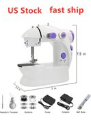 US Stock Mini Handheld Pedal Sewing Machines Dual Speed Doub...
