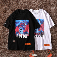 Heron Preston Mens T shirts Casual Letters Printed Short Sle...