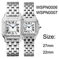 Yeni WSPN0006 WSPN0007 Çelik Kasa 27mm / 22 mm Beyaz İsviçreli Kuvars Kadın İzle Bayanlar Paslanmaz Çelik Saatler 10 Renkler Puretime CAT-B25a1 Dial