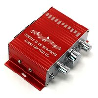 12V Mini Car Amplifier Motorcycle Home Boat Auto Stereo Audio Amplifiers 2 Channel Digital Hi-Fi Amp Support CD DVD MP3 Speaker