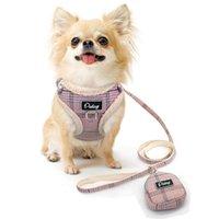Weiche Haustierhundgurt Weste Kein Pull-justierbare Chihuahua-Welpen-Katzen-Kabelbaum-Leine Set für kleine mittelgroße Mantel Arnnes Perro