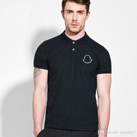 New Mens Designer Polo Shirts Casual Solid Male Short Sleeve...