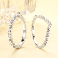 Echte 925 sterling zilveren vrouwen ringen kubieke zirkoon mode trouwring sieraden ronde vinger ring voor dames