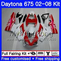Body For Triumph Daytona 675 2002 2003 2004 2005 2006 2007 2008 322HM.42 Daytona 675 Rosso bianco Daytona675 02 03 04 05 06 07 08 Kit carena
