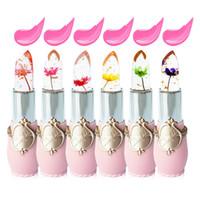 6 색 꽃 립스틱 젤리 투명 온도 변화 매트 립 밤 겨울 입술 프로텍터 방수 3.8