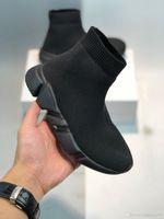 Botas de moda para niños Speed Trainer Sock Zapatos para niños pequeños Boys Girls Socks Youth Socks Sneakers Triple Negro Rojo Niños Niños Diseñador de niños 24-35
