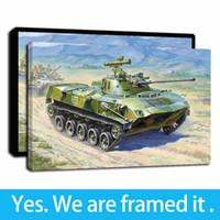 Oeuvre d'art encadrée Camion Réservoir d'huile russe Peintures HD Impression sur Peintures Toile Art de mur d'image affiche pour Home Décor - prêt à accrocher