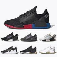 Adidas Cheap NMD V2 Core Black White womens Mens running shoes OG Bred Metallic Gold Triple Black White women men sports sneakers 36-45