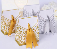 لوازم الزفاف الإحسان حقيبة كعكة حلوى كاندي هدية التفاف صناديق الورق أكياس حزب الذكرى الميلاد استحمام الطفل هدايا صندوق XD23261
