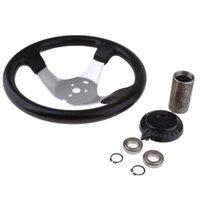 Dirección de Go-Kart Montaje de la rueda con el casquillo para los motores 150c-250cc ATV Buggies, Universal 300mm 11,8 pulgadas