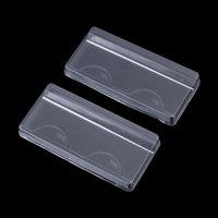 거짓 속눈썹 5pc / 10pc 투명 스트립 속눈썹 상자 포장 하단 래시 케이스 보호 눈 속눈썹 저장 재사용 가능