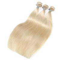 Platin Yeni Stil Brezilyalı Bakire Düz Saç Örgü Demetleri Düz% 100% İnsan Saç Dokuma 10-30 Inç Remy Saç Uzatma