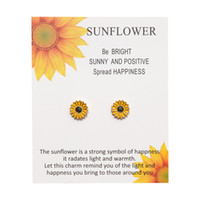 New Fashion Cute Tiny Sunflower Daisy Stud Earrings Bohemian...