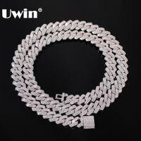 UWIN 13мм Micro Pave зубец кубинский цепи ожерелья моды Hiphop Полный Iced Out Цирконий ювелирные изделия для мужчин женщин