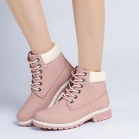 حذاء واحد النسائية أحذية PU الإناث شقة حجم كبير وردي مارتن الإناث قصيرة