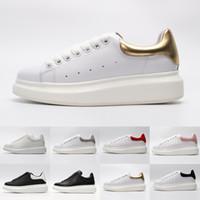 ACE barato negro blanco rojo de moda de lujo de diseño de las mujeres zapatos de oro escotados de cuero plano diseñadores mujer de los hombres zapatillas de deporte casuales 36-44