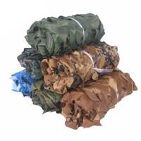 1.5m Szerokość Dostosowań Camouflage Sieć bez krawędzi Kurtyna Oprawa Ogród Dekoracji Sun Shelter Car Cover Jungle Desert Camo
