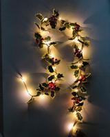 2 metry 20leds Light String Wodoodporne Christmas Gwiaździste światła atmosferyczne z liśćmi do trawy patio dekoracjami pokoju