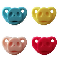 Succhietto Ciuccio Soother Soft Soft Teether Silicone Pig Naso Regali Joke Toddler Baby