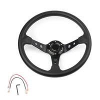 Для Momo Car Sport Sport Рулевое колесо Racing Type Высокое Качество Универсальные 14 дюймов 350 мм Алюминий + ABS Стайлинг ABS Быстрый релиз
