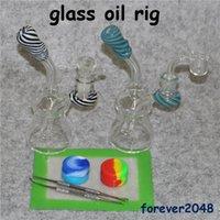 Tubi dell'acqua nel gorgogliatore di vetro Oil Rigs Glass Bong inebriante tamponare rig tubi bong piccolo strumento dabber contenitore in silicone mini narghilé